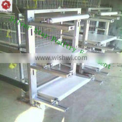 H type q235 galvanized steel automatic battery cage for rearing pullets