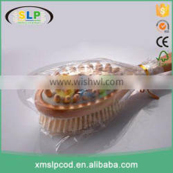 High Quality Natural Wooden Long Handle Bristle Body Brush