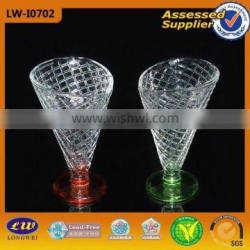 hot sale glass ice cream cup