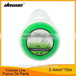 Top Garden Tool Line Parts 2.4mm*15m Nylon Star Trimmer Line