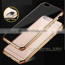 electroplating soft tpu back cover for iphone 6 case, mobile phone case