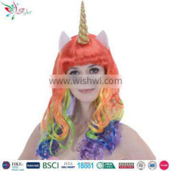 china halloween party wig supplier unicorn synthetic hair wig