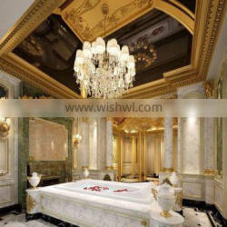 Professional 3D Rendering Interior Design for Luxury Noble Baroque Style Golden Bathroom with Complete Materials BF12-05234d