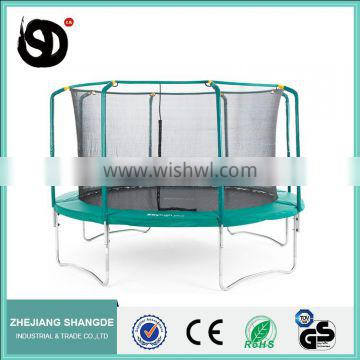 Trampoline with safety enclosure net (ladder, weather cover, tent)