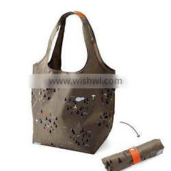 big capacity portable shopping bag with snap closure