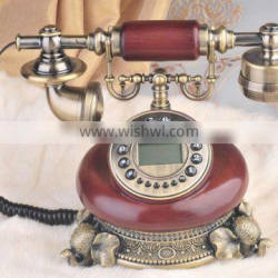 European caller ID display antique old style phone