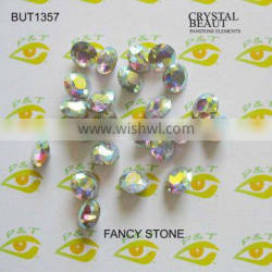 Fancy stone point back 14mm round shape crystal AB for jewel