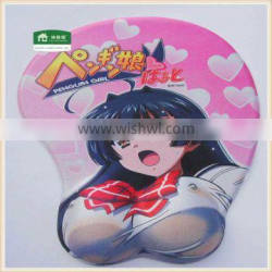 sexy breast girl gel mouse pad