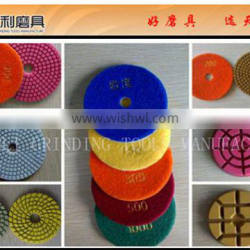 granite abrasive pads pasted on grinding machine