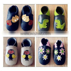 Wholesale Soft Leather Hand Made kids genuine leather shoes
