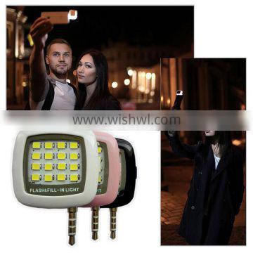New 16 LED Portable Selfie Flash Fill Flash Light for Samsung iPhone Smartphone