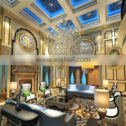 Classic Italian Style 3d Interior Design for Living Room of Noble House BF11-08283c
