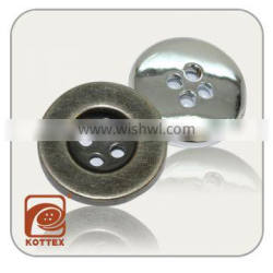 Normal 4 Holes ABS Plastic Silver/Brass/Gold Plating Color Button Has Small Thin Rim For Garment Coat, Sweater