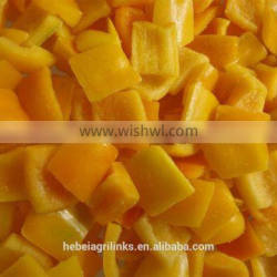 IQF yellow bell pepper cubes