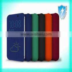 2014 new arrival dot view case for htc one m8