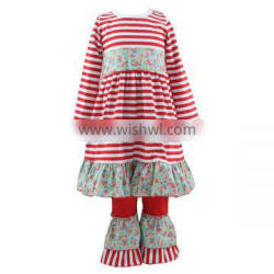 Persnickety outfit Christmas maxi dress ruffle pants sets long sleeve outfit Christmas