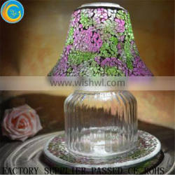 Hot sale glass mosaic lamp /glass candle jar shades for wedding Quality Choice