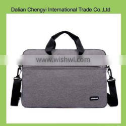 Factory price solid color ladies leisure canvas computer bag wtih long strap