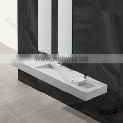 American solid surface bathroom sinks with two faucets
