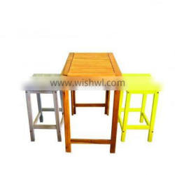 High quality best selling eco friendly 3 Pieces Wooden Dining Set from Viet Nam
