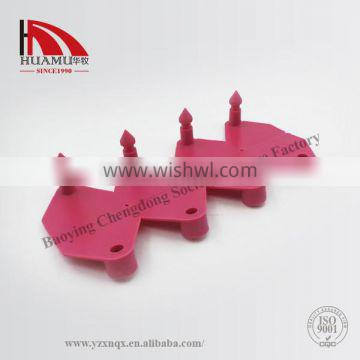 TPU ear tag for sheep in peach red 32*32 mm