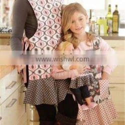 2014High quality modern hotsell promotional child adult doll apron set