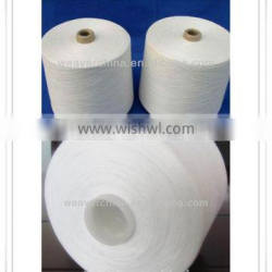 Raw White 100% Polyester leather sewing Thread 40 / 3 from China