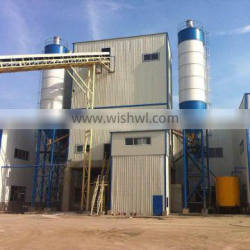 high quality and reliable cement concrete mixing station HLS60 exported to Africa/Southeast Asia
