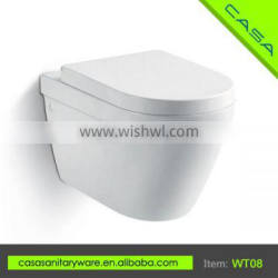 China supplier wall-hung water saving white P-trap ceramic cheap toilets for sale for bathroom