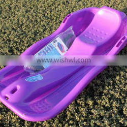 With Brake and Rope CE Approved Kids Winter plastic Snow Glider Toboggan Sledge