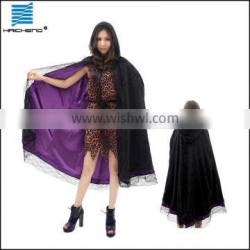 Velvet Adult Witch cape Costume with lace C008