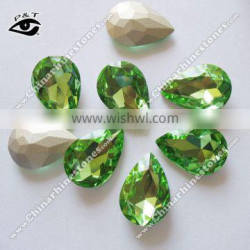 Fancy stone Glass Rhinestone 18x25mm Tear Drop Gemstone For Decoration