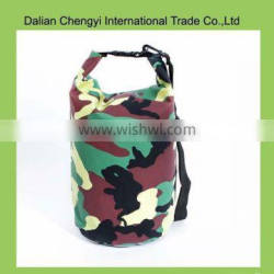 Factory price tactical camouflage waterproof pvc dry bag for outdoor sport