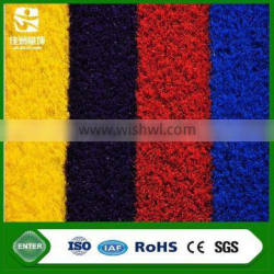 Rainbow colorful artificial grass carpets tiles for kindergarten playground