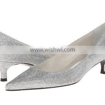OW89 2015 slim low heel Italy design style pointed toe casual shoe manufacturer crystal dress shoes