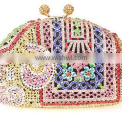 luxury evening bag made in china stylish metal clutch bag clutch wallet hard case