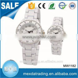 2016 OEM logo stainless steel back case water proof classic couple watch