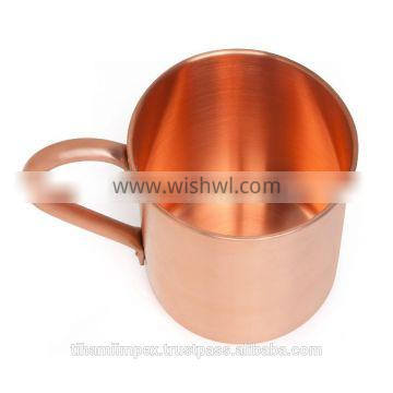 100% PURE Copper Mug - 16oz - Start Making AUTHENTIC Moscow Mules and Other Great Cocktails - Great for Entertaining Guests