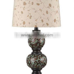 Floral pattern table lamp, floral pattern shade