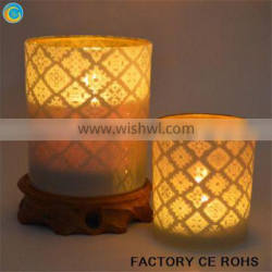 Full product customization laser flower candle holder / apothecary glass jar for decoration