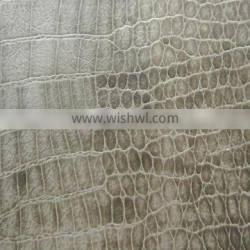 Metallic pattern PVC leather for hand bags