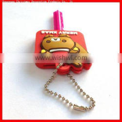 new arrival cartoon key cover with keychain