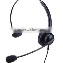 Lightweight monaural headset with rj11/usb/dc2.5/3.5mm jacket for call center or office use
