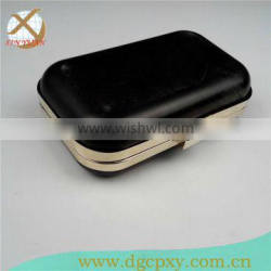 fashion metal clutch frames with shell cover