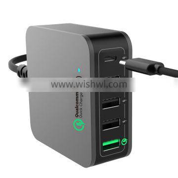 multi usb QC 3.0 Type-c charger ,family charger got saa certificate, usb cell phone fast charger qc 3.0 charger
