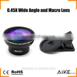 Professional HD Camera Lens Kit Detachable 0.45x Super Wide Angle/15x Macro Lens for iPhone 6s plus SE 5s Tablet PC,Smartphone