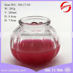 280ml Decoration glass candle jars for Church festival wholesale