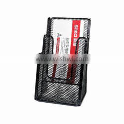 metal mesh office desk 3 layer file tray