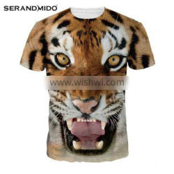 Latest Tiger Printing Dylan Women Breathable Digital Printing Knitted Casual T-shirt Printing