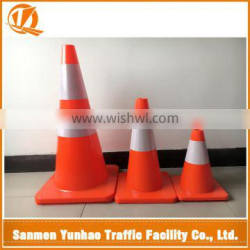 USA market best sailing high quality flexible pvc cone,road reflective traffic cone